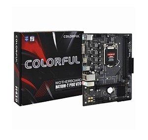 PLACA MAE LGA 1200 MICRO ATX H410M-T PRO V20 DDR4 VGA/HDMI USB 3.0 COLORFUL BOX