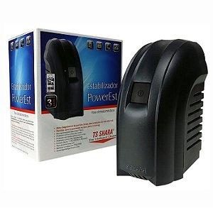 ESTABILIZADOR 500VA BIVOLT POWEREST 9016 4 TOMADAS TS SHARA BOX