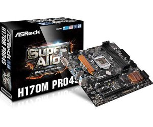 PLACA MAE 1151 MICRO ATX H170M PRO4S DDR4 DVI/HDMI ASROCK