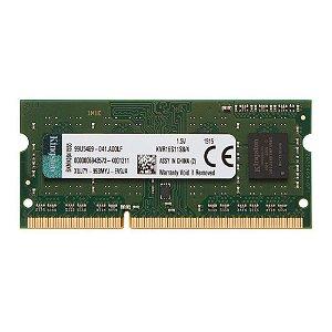 MEMORIA 4GB DDR3 1600 MHZ KVR16S11S8/4 NOTEBOOK KINGSTON