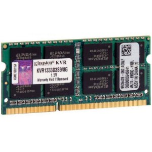 MEMORIA 8192 DDR3 1333 MHZ NOTEBOOK KVR1333D3S9/8G KINGSTON