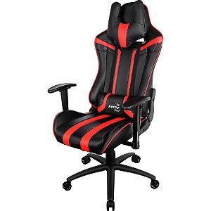 CADEIRA GAMER  AEROCOOL RGB AIR AC120 EN59633 - BLACK/RED