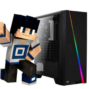 PC GAMER HAPPY CYLON ATX RGB - MINECRAFT