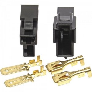Conector 2 Vias Plastico Kit M/F Preto STORM