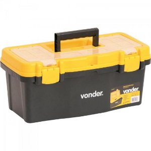Caixa de Ferramentas CPV0405 Preta e Amarela VONDER