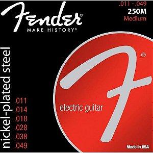 Encordoamento para Guitarra Aço 0.011 250M Niquelado FENDER
