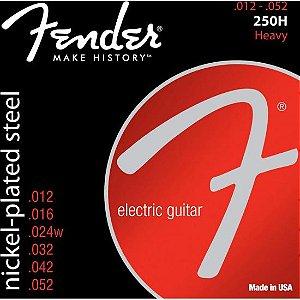 Encordoamento para Guitarra Aço 0.012 250H Niquelado FENDER