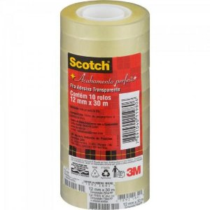 Fita Adesiva 12MM X 30M SCOTCH Transparente 3M