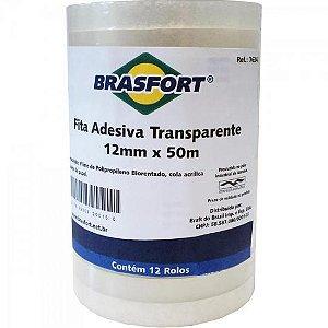 Fita Adesiva 12mm X 50m Transparente BRASFORT