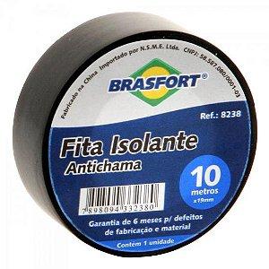 Fita Isolante Antichama Preta 19mm x 10m BRASFORT
