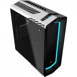 Gabinete Gamer Mid Tower Tempered Glass PROJECT 7 EN58362 Branco AEROCOOL