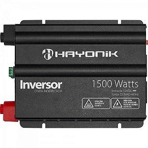 Inversor 1500W 12VDC/220V Onda Modificada CinzaEscuro HAYONIK