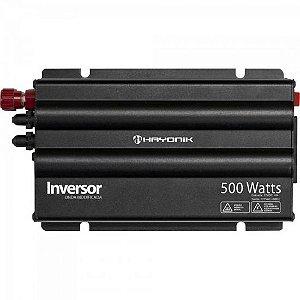 Inversor 500W 12VDC/127V Onda Modificada Cinza Escuro HAYONIK