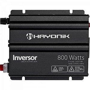 Inversor 800W 12VDC/220V Onda Modificada Cinza Escuro HAYONIK
