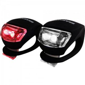 KIT Lanterna LED p/ Bike Preto BRASFORT