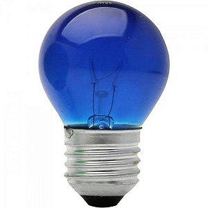 Lâmpada BOLINHA 15W 127V E27 BG45 Azul BRASFORT