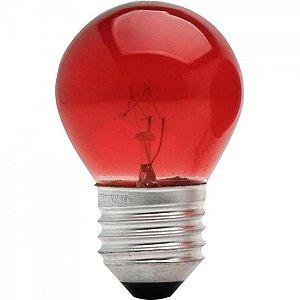 Lâmpada BOLINHA 15W 220V E27 BG45 Vermelha BRASFORT