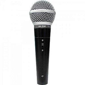 Microfone de Mão Dinâmico LS50 Preto LESON