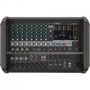 Mixer Analógico Amplificado EMX7 Preto YAMAHA