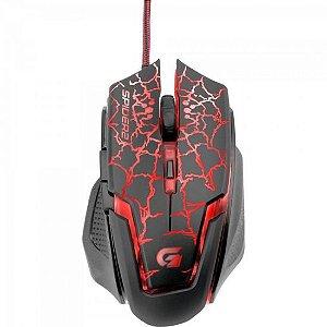 Mouse Gamer USB 3200DPI SPIDER 2 OM-705 Preto/Vermelho FORTREK