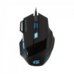 Mouse GamerBLACK HAWK OM-703 Preto/Azul FORTREK
