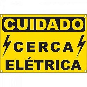 Placa de Alerta para Cerca Elétrica ECP