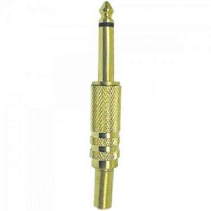 Plug P10 Mono Metal com Mola Gold GENÉRICO