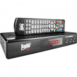 Receptor Anadigi e HD Satélite e Conversor Integrado BS9500 PT BEDINSAT