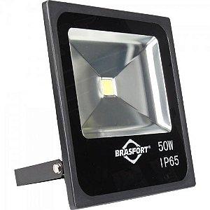 Refletor de LED 50W 6500K Bivolt SLIM Preto BRASFORT