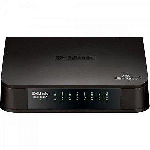 Switch Fast 16 Portas 100Mbps DES-1016A Preto D-LINK