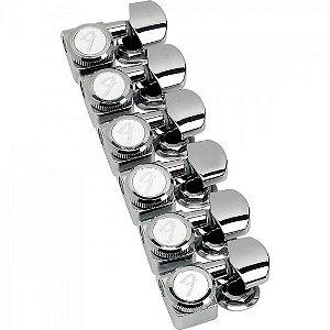 Tarraxas para Guitarras Strato/Tele com trava LOCKING 38-11 F-SL Niquelada FENDER