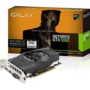 PLACA DE VIDEO 2GB PCIEXP GTX 1050 50NPH8DSN8OC 128BITS GDDR5 NVIDIA DVI/HDMI/DP GALAX