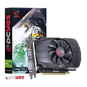 PLACA DE VIDEO 4GB PCIEXP GT 730 PV73012804D5 128BITS GDDR5 PCYES