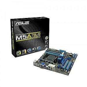 PLACA MAE AM3 S/V/R M5A78L-M/USB3 DDR3 VGA, HDMI, D-SUB, DVI, S/PDIF ASUS  IMPORTADO