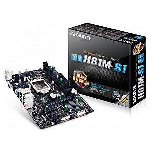 PLACA MAE 1150 MICRO ATX GA-H81M-H DDR3 GIGABYTE  IMPORTADO