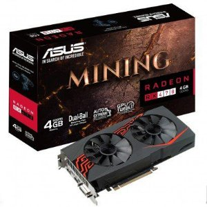 PLACA DE VIDEO ASUS RADEON RX 470 4GB MINING LED256 BITS - MINING-RX470-4G-LED