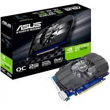 PLACA DE VIDEO ASUS GEFORCE GT 1030 2GB OC PHOENIX DDR5 64 BITS -  PH-GT1030-O2G