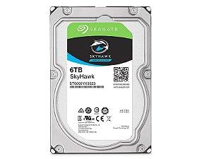 HDD 3,5 SISTEMA SEGURANCA VIGILANCIA SEAGATE 2EF110-300 ST6000VX0023 6 TERAS 256MB CACHE 24X7 SATA 6GB/S