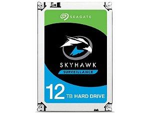 HDD 3,5 SISTEMA SEGURANCA VIGILANCIA SEAGATE 2JQ101-300 ST12000VX0008 SKYHAWK 12 TERAS 256MB 24X7 6GB/S SATA