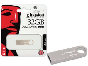 PEN DRIVE USB 2.0 KINGSTON DTSE9H/32GBZ DATATRAVELER SE9 32GB PRATA