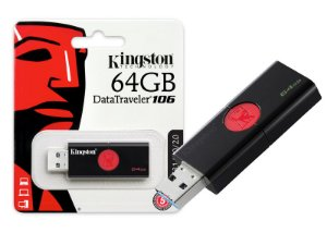 PEN DRIVE USB 3.0 KINGSTON DT106/64GB DATATRAVELER 106 64GB