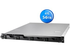 SISTEMA DE BACKUP NAS ASUSTOR AS6204RS INTEL QUAD CORE J3160 1,6GHZ 4GB DDR3 RACK 1U 4 BAIAS