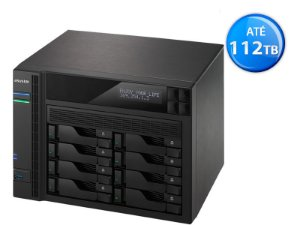 SISTEMA DE BACKUP NAS ASUSTOR AS6208T INTEL QUAD CORE J3160 1,6GHZ 4GB DDR3 TORRE 8 BAIAS