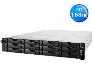 SISTEMA DE BACKUP NAS ASUSTOR AS6212RD INTEL QUAD CORE J3160 1,6GHZ 4GB DDR3 RACK 12 BAIAS