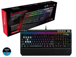 TECLADO GAMER HYPERX HX-KB2BL2-US/R2 MECANICO ALLOY ELITE RGB CHERRY MX BLUE