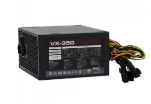 FONTE ATX 350W REAL 20/24 PINOS VX-350 EN57181 2*SATA 2* IDE S/CABO AEROCOOL