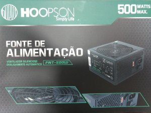 FONTE ATX 500W 20/24 PINOS FNT-500W 2*SATA 2* IDE HOOPSON