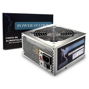 FONTE ATX 500W 20/24 PINOS GBX-500 AF.B PS-500W 2*SATA 2* IDE POWER STATION