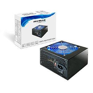 FONTE ATX 500W 20/24 PINOS HIGH POWER (MPSU/FP500) 2*SATA 3* IDE MYMAX
