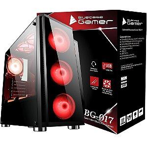 GABINETE GAMER BG017GCASE BG-017 SEM FONTE USB 3.0 LATERAL EM VIDRO TEMPERADO BLUECASE